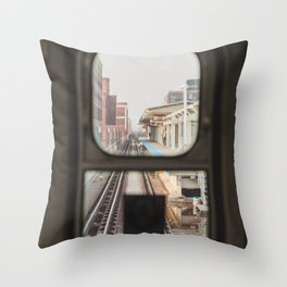 Loop Bound - Chicago El Photography Throw Pillow