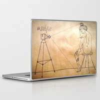 selfie Laptop & iPad Skins featuring Selfie by Amanda Vieira
