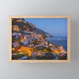 A Serene View of Amalfi Coast in Italy Framed Mini Art Print
