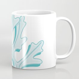 Cute Dusty Miller Leaf Illustration Coffee Mug