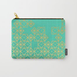 Geometric Turquoise Carry-All Pouch