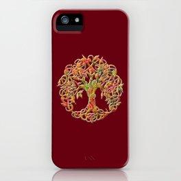 Tree of Life Maroon iPhone Case