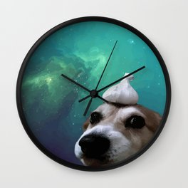 Dog, Garlic & Space Wall Clock