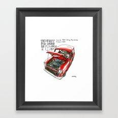 Mini Cooper Classic in Red Framed Art Print