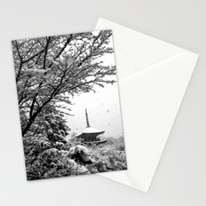 Winter Pagoda in Kyoto I Stationery Cards