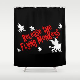 Release the Flying Monkeys Shower Curtain