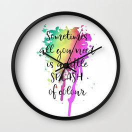 Sometimes all you need is a little splash of color! n.1 Wall Clock