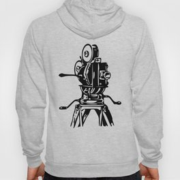 Vintage Motion Picture Film Camera Graphic Hoody