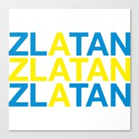 zlatan Canvas Prints featuring ZLATAN by eyesblau