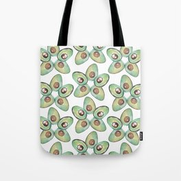 Green Avocado slices pop star_hand painted watercolour Tote Bag