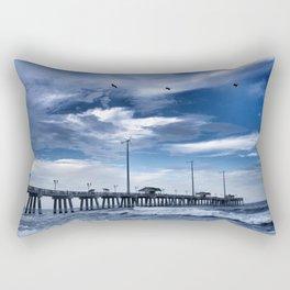 Jennette's Pier at Dusk, Nags Head, North Carolina, Outer Banks OBX  Rectangular Pillow