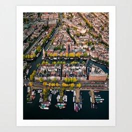 Amsterdam Houseboats & Canals Art Print