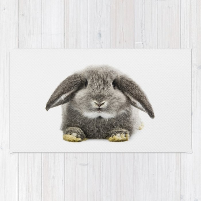 Bunny Rabbit Sitting Rug By Taiprints Society6