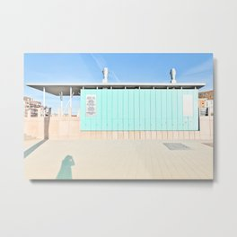 Mood In Blue - House and Architecture Metal Print