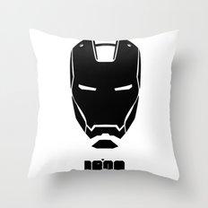 IRON MONOCHROME Throw Pillow