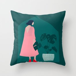 Dress Up to Stay In Throw Pillow
