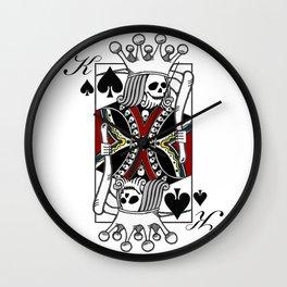 Imperator Mortuus Est (Red) Wall Clock