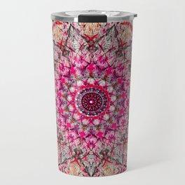 mandala pink colorfull Travel Mug