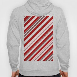 winter holiday xmas red white striped peppermint candy cane Hoody