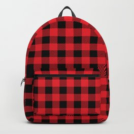 Buffalo Plaid (red/black) Backpack