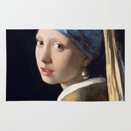 GIRL WITH A PEARL EARRING - JOHANNES VERMEER Rug