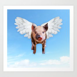 When They Fly Art Print