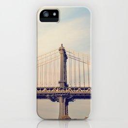 Sunset over Manhattan x Manhattan Bridge iPhone Case