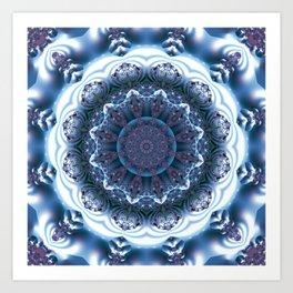 Snow Mandala Art Print