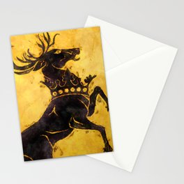 Black stag Stationery Cards