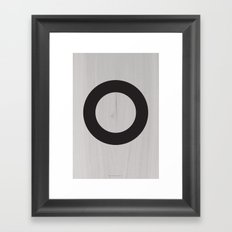 Circle Black Framed Art Print