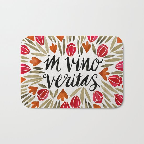 In Wine, There is Truth – Red Bath Mat