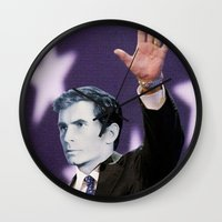 american psycho Wall Clocks featuring American Psycho by Marko Köppe