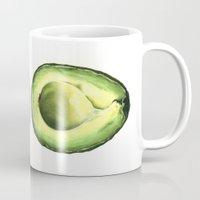 avocado Mugs featuring Avocado by Sam Luotonen