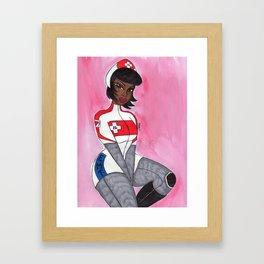 Hello Nurse Framed Art Print