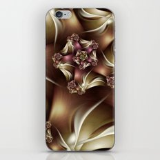 Abiding Fractal Spiral in Brown, White and Pink iPhone & iPod Skin