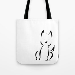 B&W Dog Tote Bag