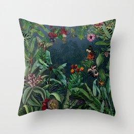 Midnight rainforest I Throw Pillow