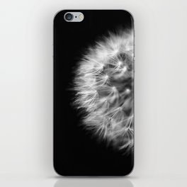 Dandelion Monochrome Macro iPhone Skin