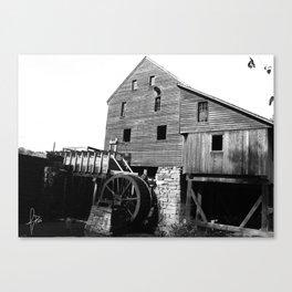 Sawmill B&W Canvas Print