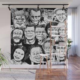 Dead Celebrities Wall Mural