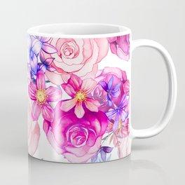 Pink trendy modern watercolor floral pattern Coffee Mug
