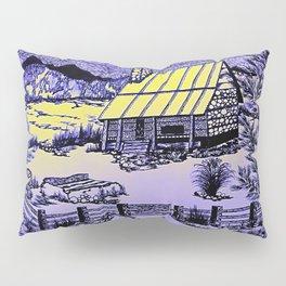 Mountain Cabin Sunrise Pillow Sham