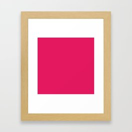 Raspberry Red Solid Color Framed Art Print