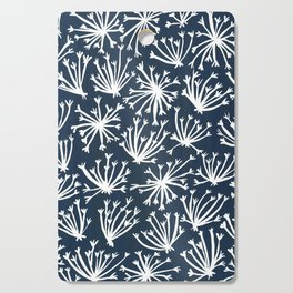 Queen Anne's Lace – White on Navy Cutting Board