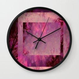 Mauve introspection Wall Clock