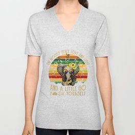 Elephant I'm Mostly Peace Love And Light And A Little Go Fck Unisex V-Neck