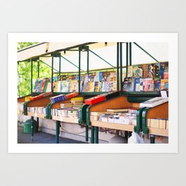 176. Book Store, Rome Art Print