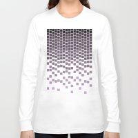 pixel Long Sleeve T-shirts featuring Pixel Rain by Picomodi
