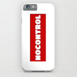 NoControl iPhone Case