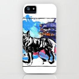 German Shepherd pop art iPhone Case